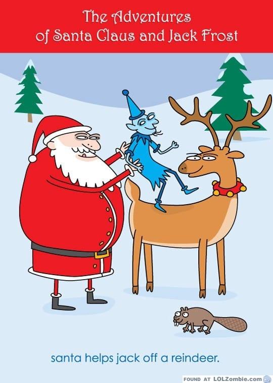 Santa & Jack Card Front