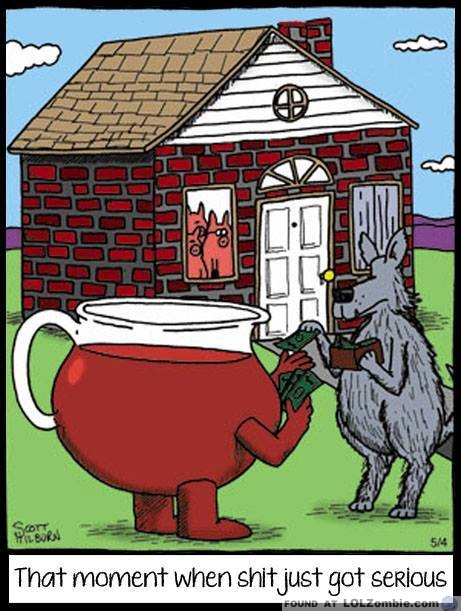 Kool-Aid Man helping Wolf