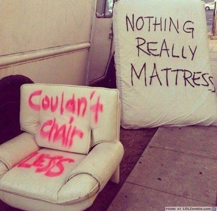 Old Chair and Mattress