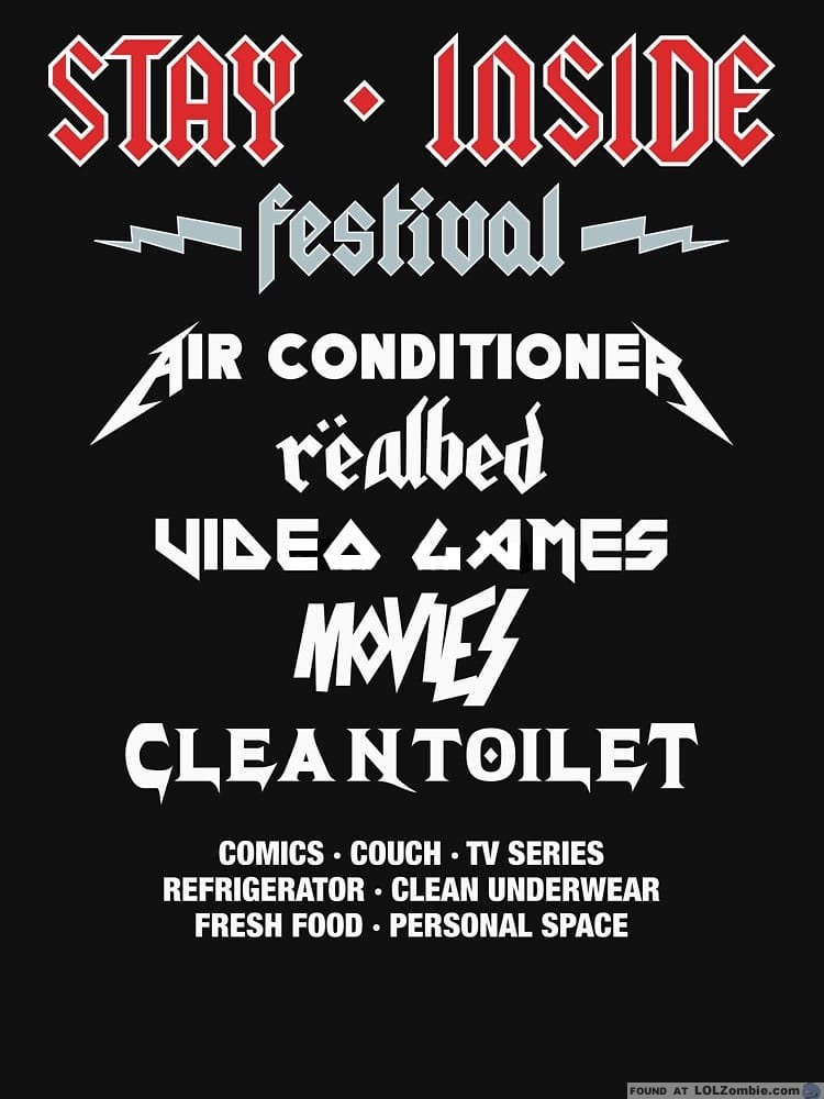 Festival poster with inside activities