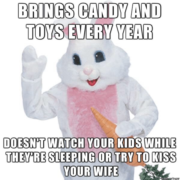 Easter Bunny vs Santa