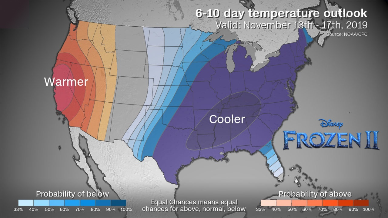 Country temperature outlook - much colder than normal