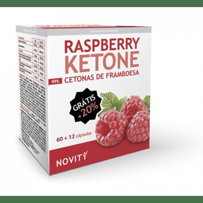 Cetonas de Frambuesa - Raspberry Ketone - Novity - 72 cápsulas