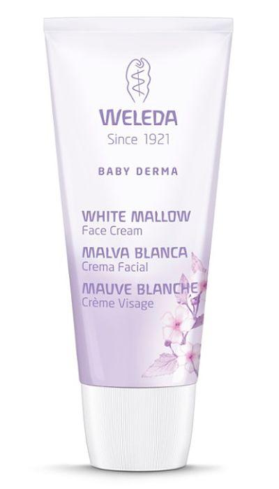 Crema Facial de Malva Blanca Baby Derma para Piel Atópica - Weleda - 50 ml