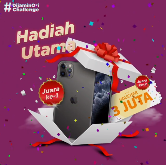 Lomba Video Tiktok Instagram JD.ID Berhadiah Iphone 11