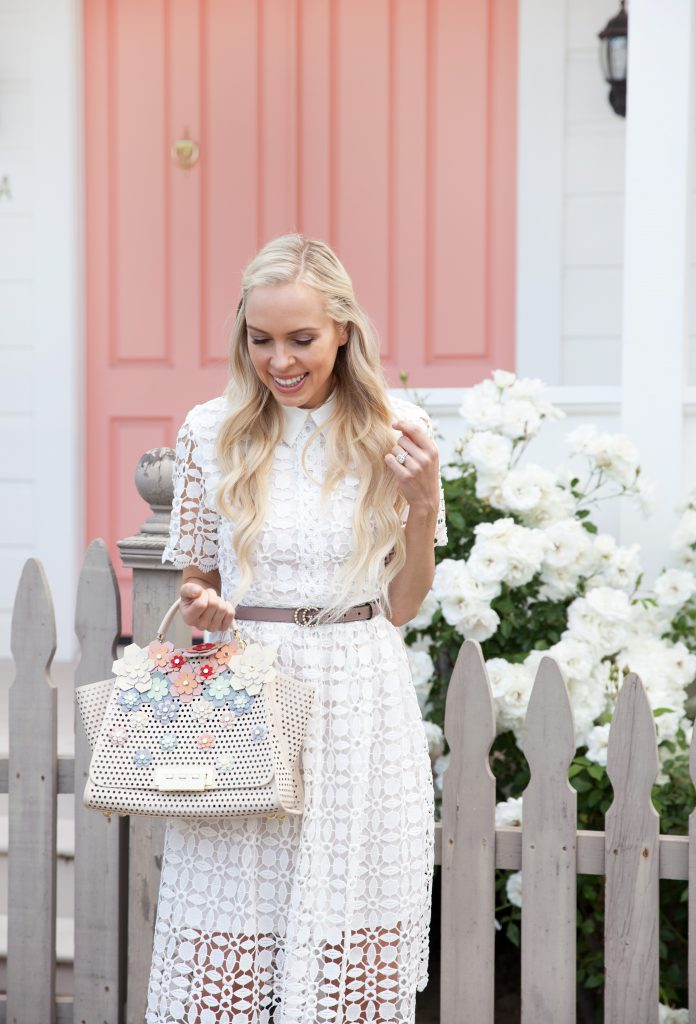 chichwish white lace dress with collar in yountville