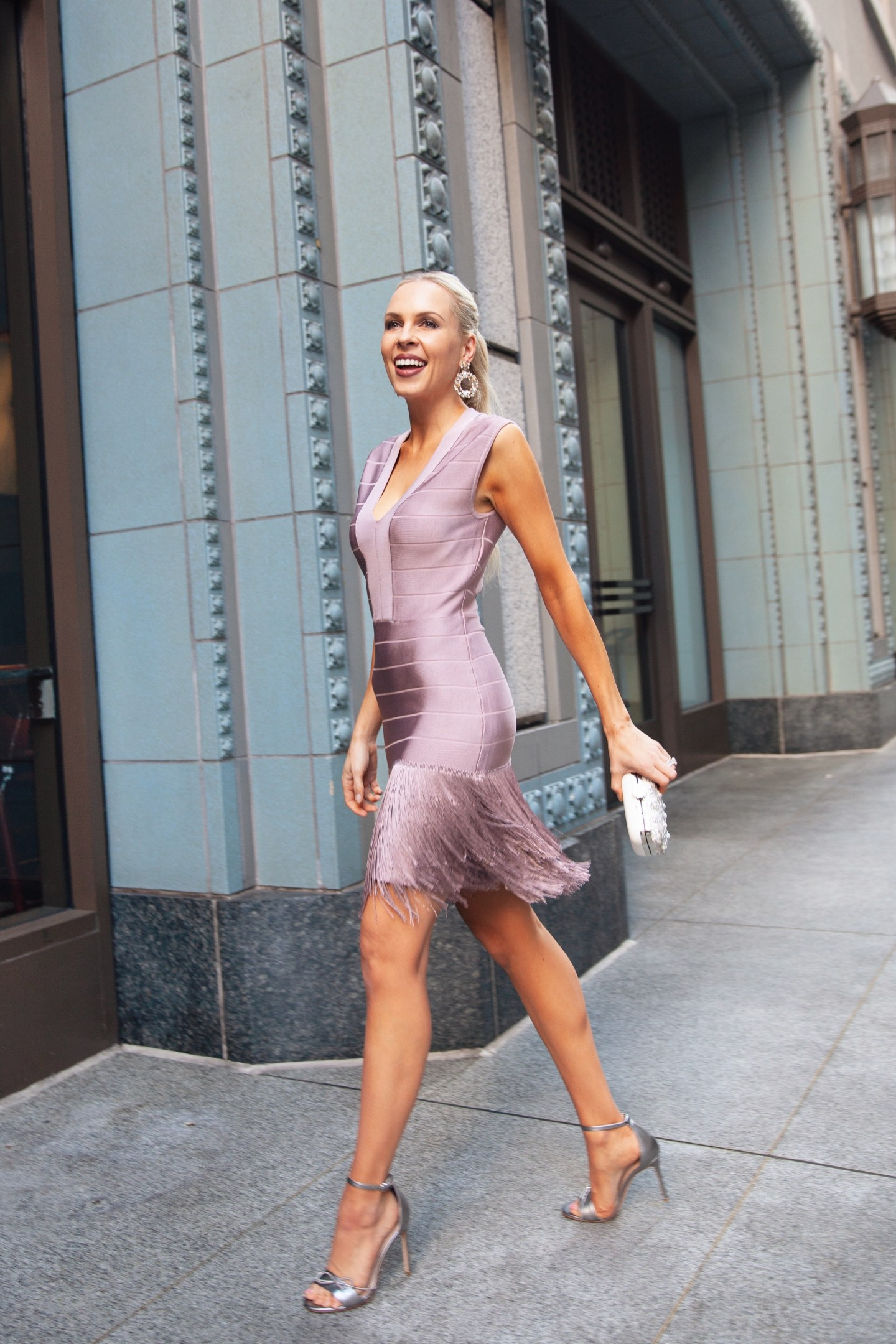 Venus fringe bodycon dress featured by top San Francisco fashion blogger Lombard and Fifth