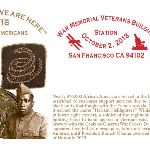 African Americans Cachet + Stamp + Cancellation