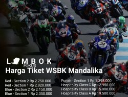 WSBK Mandalika Ticket Price List