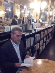 gino rago al ceffè San Marco di Trieste 2015