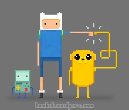 pxl-adventure-time-best-friends-jake-finn-bmo-pixel-art-pixelart-cartoon-network