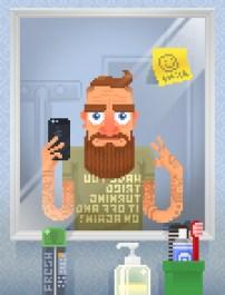 pxl-hype-by-pijamah-hipster-iphone-bathroom-selfie-beard-mustache-tattoo-mirror-geek-chic-shirt-smiley-space-invader