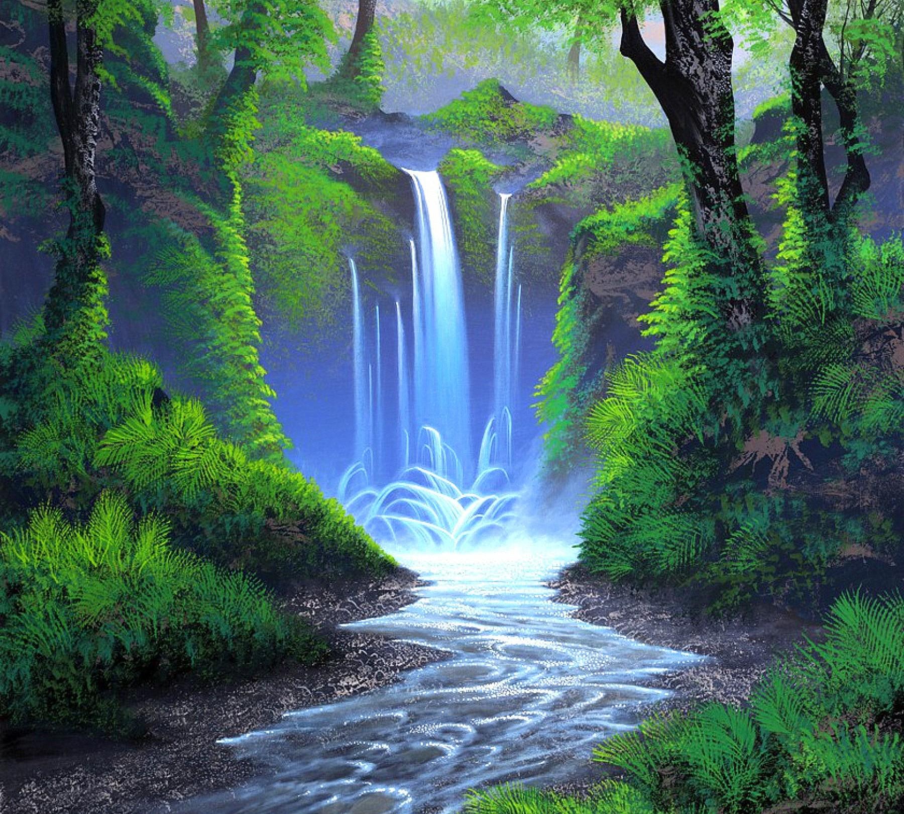 Waterfall Oil Painting Httplometscom