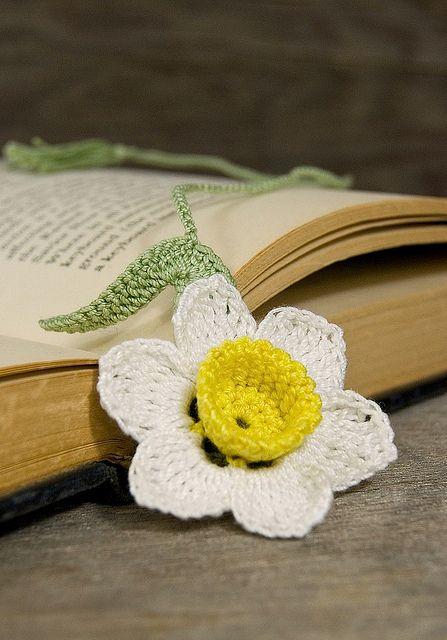 Crochet Flower Bookmark Http Lomets Com
