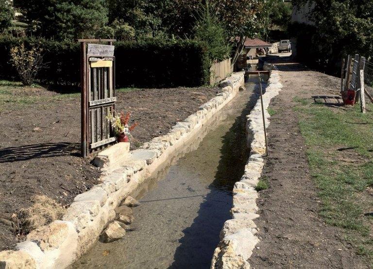 Travaux de réfection du canal, l'eau coule à nouveau