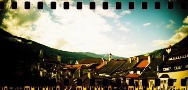 Blick über die Dächer von Brixen