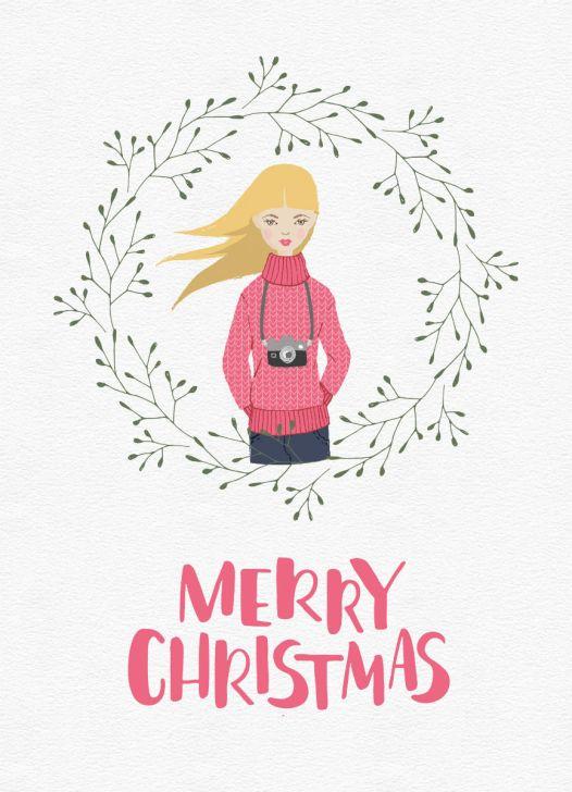 Weihnachtskarten Freebie Lomoherz