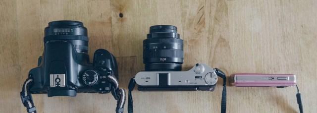 Canon EOS 450D, Samsung NX300 and Olympus u5010