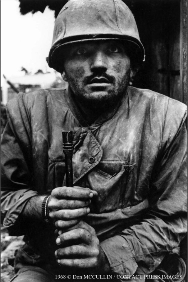 Don McCullin Shell shocked marine Hue Vietnam 1968