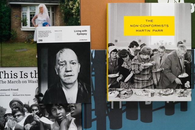 Photography books by J A Mortram, Stuart Griffiths, Giles Duley Leonard, Freed Iain, McKell Simon, Roberts Jason, Larkin Ewen, Spencer Martin, Parr Antonio and Zazueta Olmos
