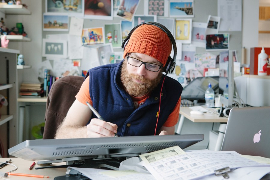 Animator at work