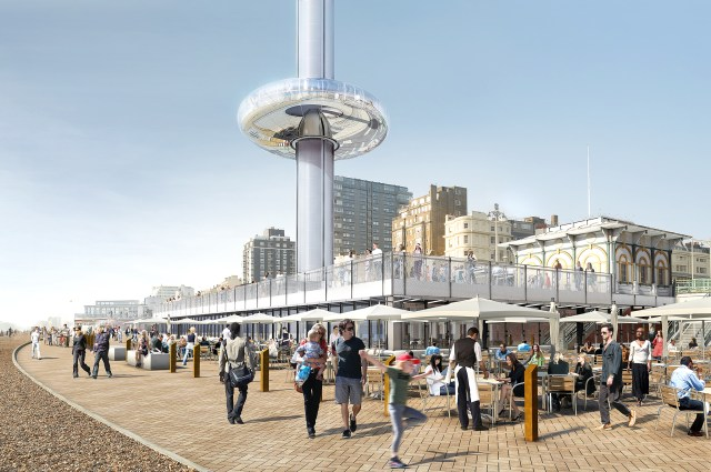 Brighton i360 ground level artists impression