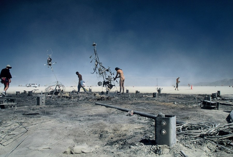 Burning Man 2005 remains of the man by Kevin Meredith