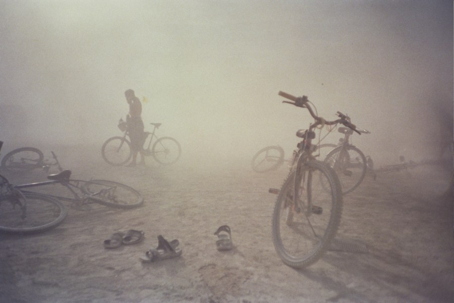Burning Man dust storm 2005 by Kevin Meredith