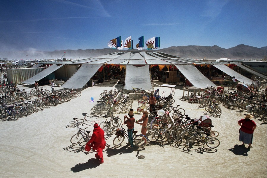 Center Camp burning man 2005 by Kevin Meredith