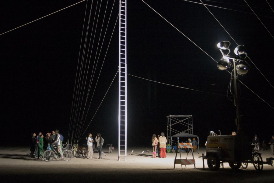 burning man ladder to nowhere 2005 by Kevin Meredith