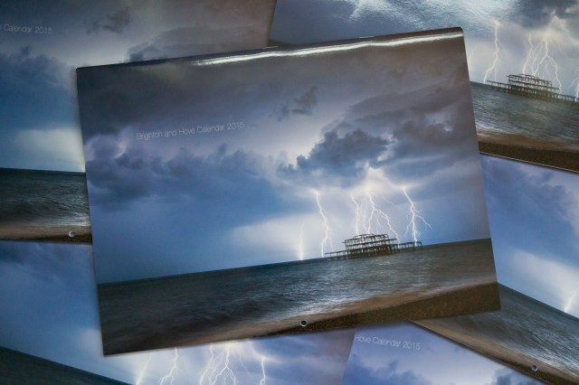 Brighton Calendar 2015 cover - Lighting and the West Pier by Max Langran
