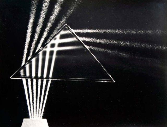 Berenice abbott light though a prism