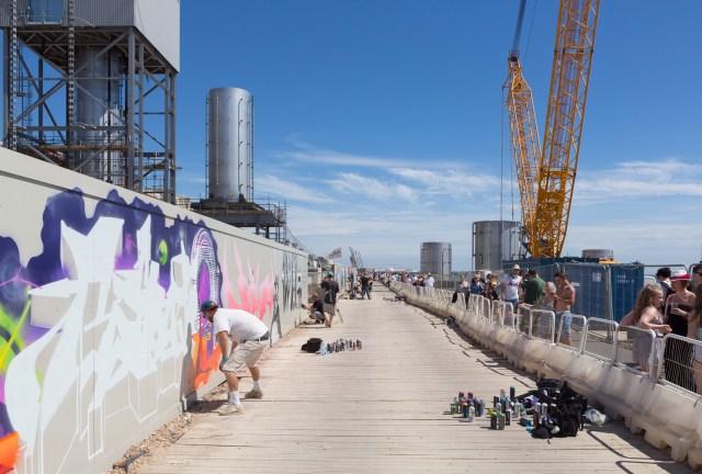 Graffiti at the Brighton i360