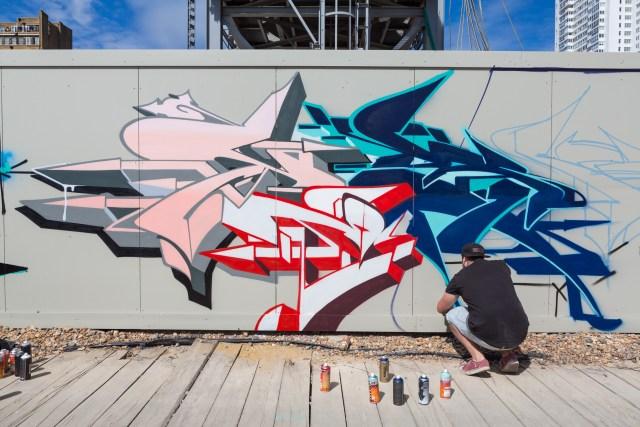 Graffiti artists Yesb