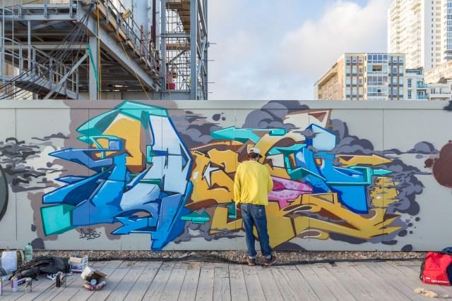 Graffiti artist Twesh