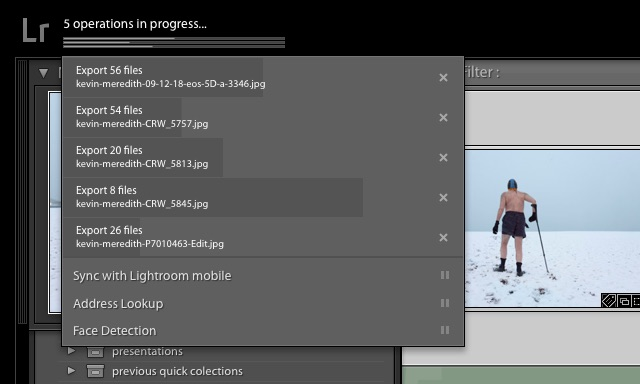 see all processes adobe lightroom tip