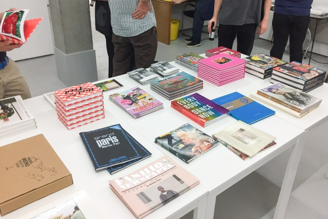 Martin Parr books at the Rocket Gallery