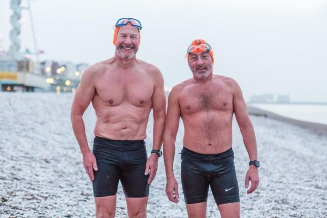 Bob & Rob - Brighton Swimming Club members in the snow