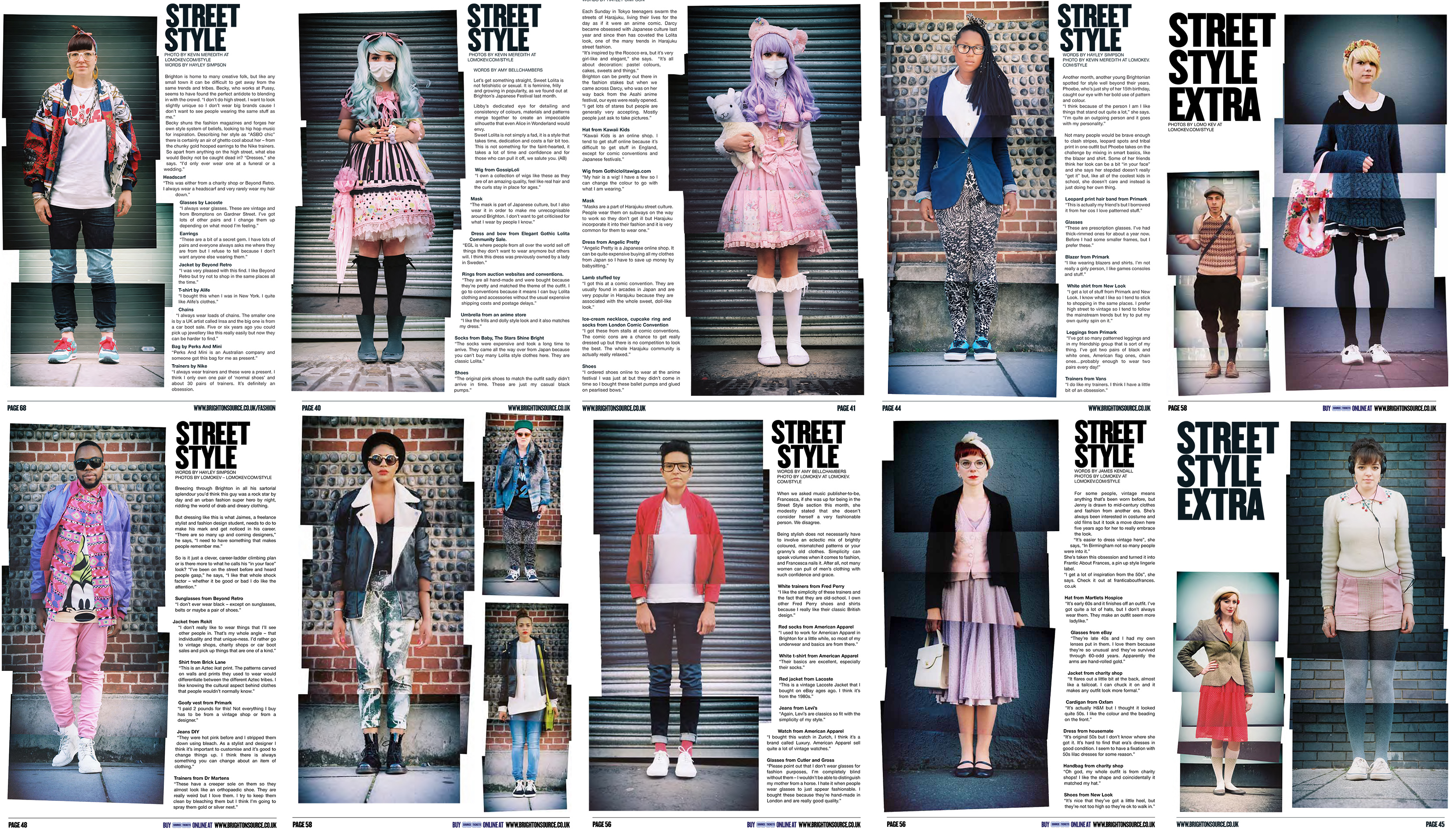 Six Months worth of Street Style Montage portraits from