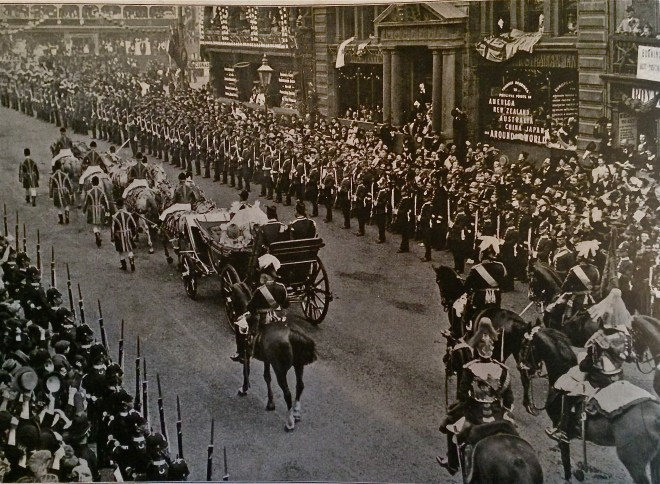 Queen Victoria processes down Pall Mall during the Diamond Jubilee celebrations