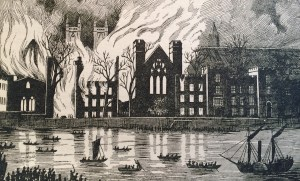 Houses of Parliament burn down in 1834