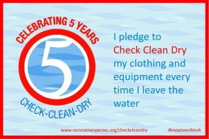 The 'Check, Clean, Dry' campaign was launched  in March, 2011 to prevent the spread of invasive non-native species in the UK.