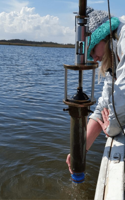 Lucy's project involves taking sediment cores from lakes. Image copyright Lucy Roberts.