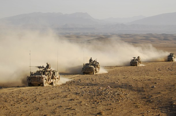 Military convoy in Afghanistan