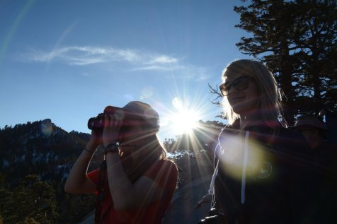 DTP students from cohort 3 on Mount San Jacinto. Image by Joe Williamson.