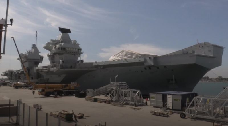 The Royal Navy's £3 billion aircraft carrier is to set sail for the US where British fighter jets will take off from its flight deck for the first time.