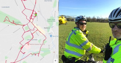 watford coronavirus police cops bikes cycling