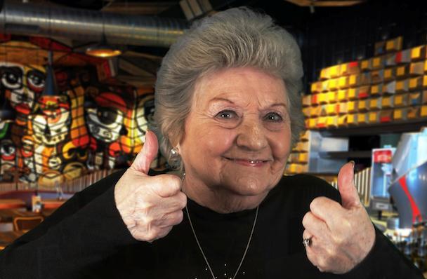 Grime Gran , over-65s,, granny, gran,Nando's