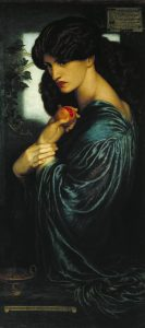 Dante Gabriel Rossetti, Proserpine, 1874, oil paint on canvas, 1251 x 610 mm