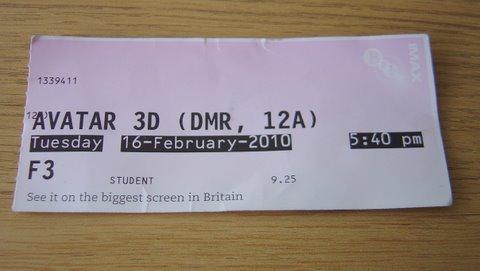 Avatar 3D Ticket